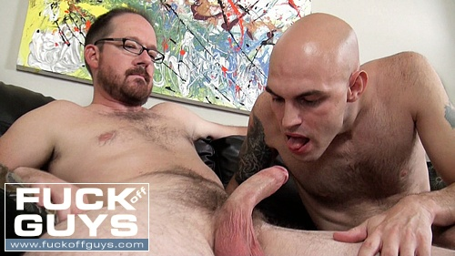 Craig Spade sucks on Seth Chase's hard dick.